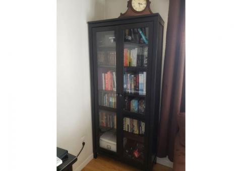 Bookcase, IKEA, HEMNES w/glass doors (Ocean Beach)
